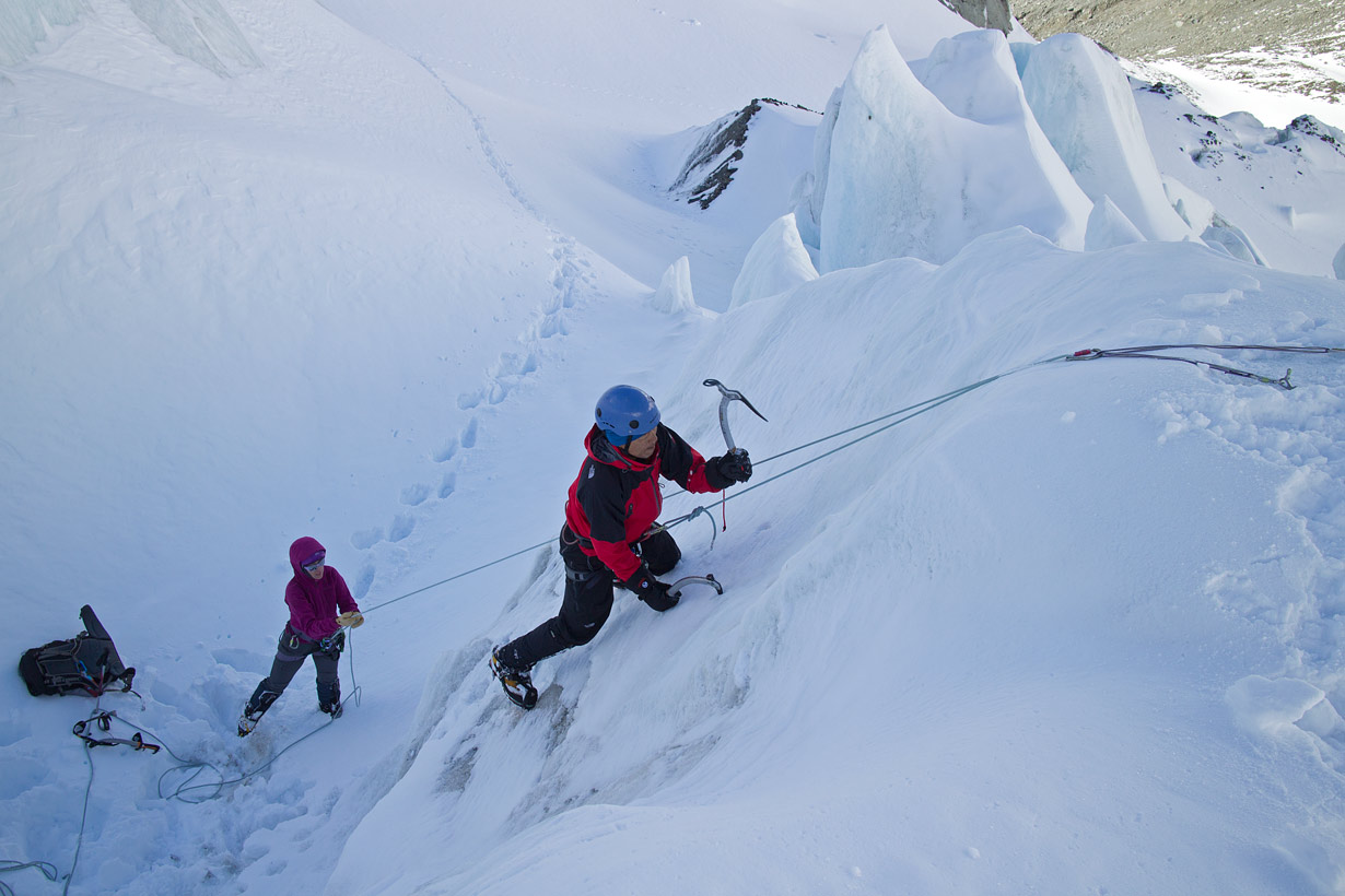 Specialized Alpine Climbing Course - ice climbing practice