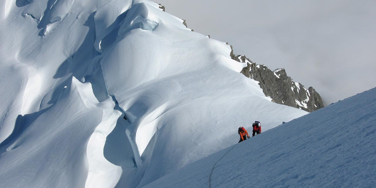 Climbers on Mount Sefton