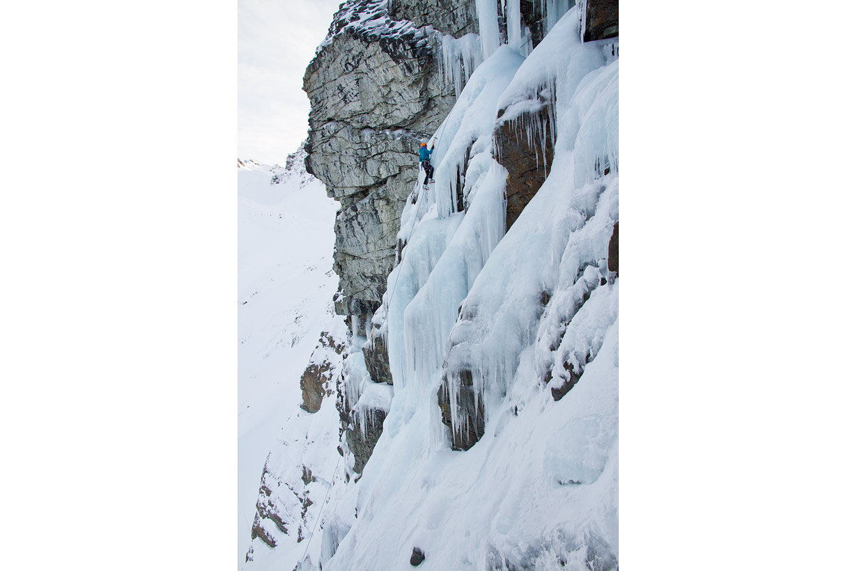 Ailsa Stream Ice Climbing - workout wall