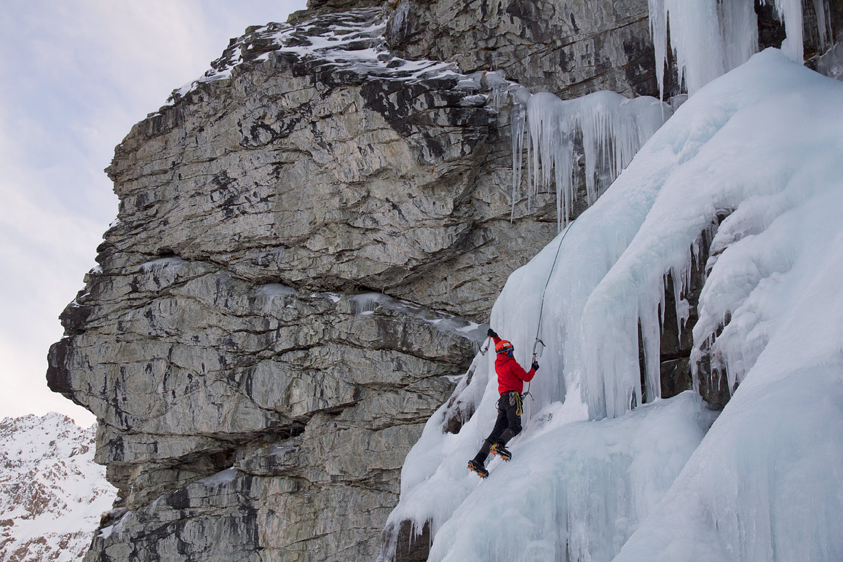 Ailsa Stream Ice Climbing - workout wall 2