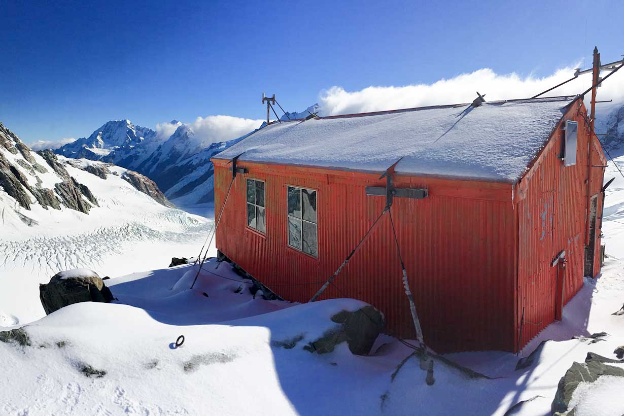 Specialized Alpine Climbing Course - Tasman Saddle Hut, Tasman Glacier