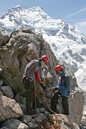 Intensive Mountaineering Skills Course at Caroline Hut