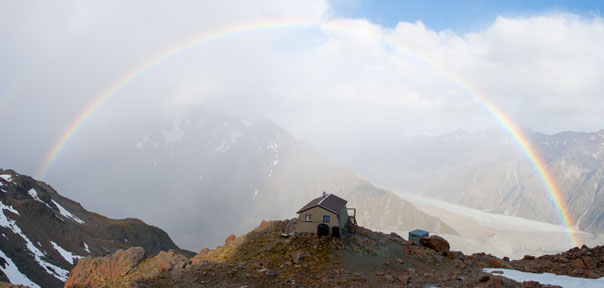 Caroline Hut is an ideal venue for mountaineering instruction courses
