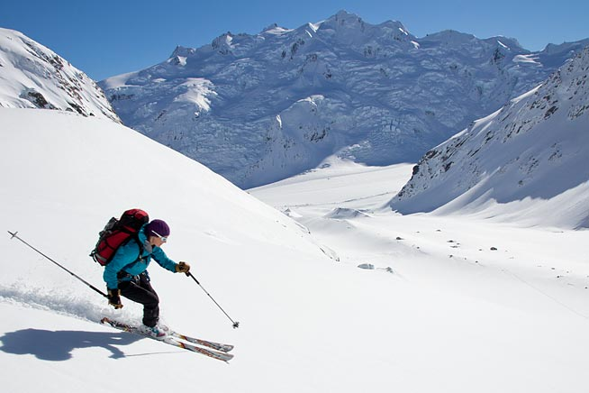 New Zealand Glacier Ski Touring & Ski Mountaineering
