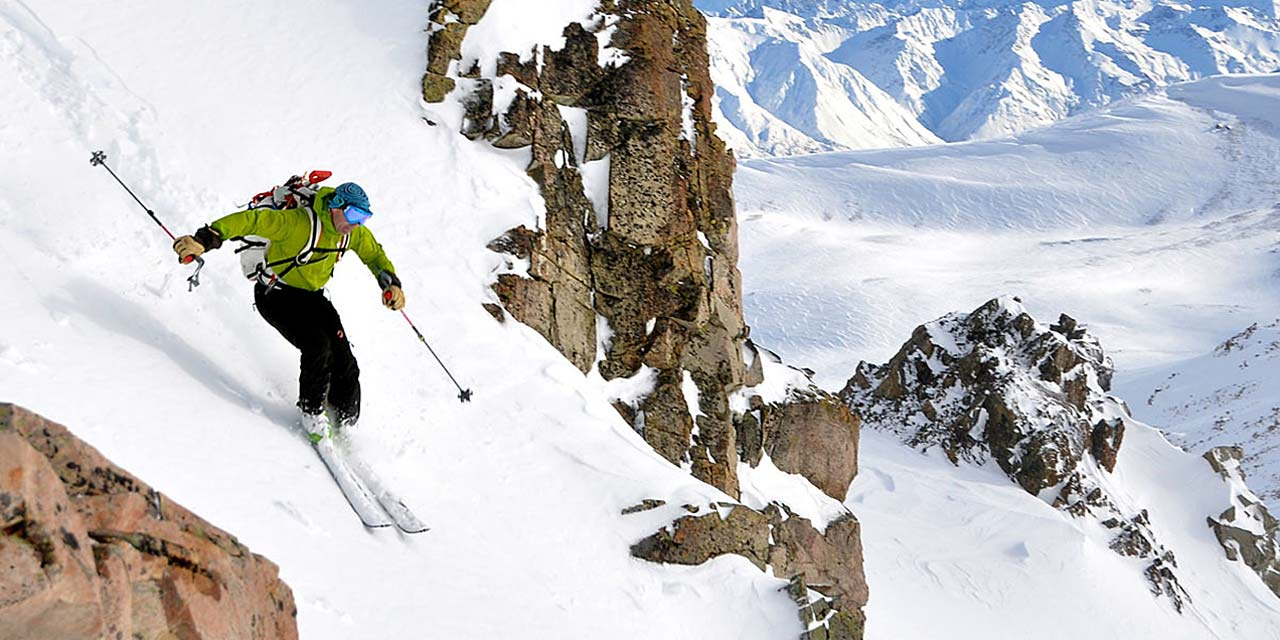 The Two Thumb Range has a great selection of ski touring terrain