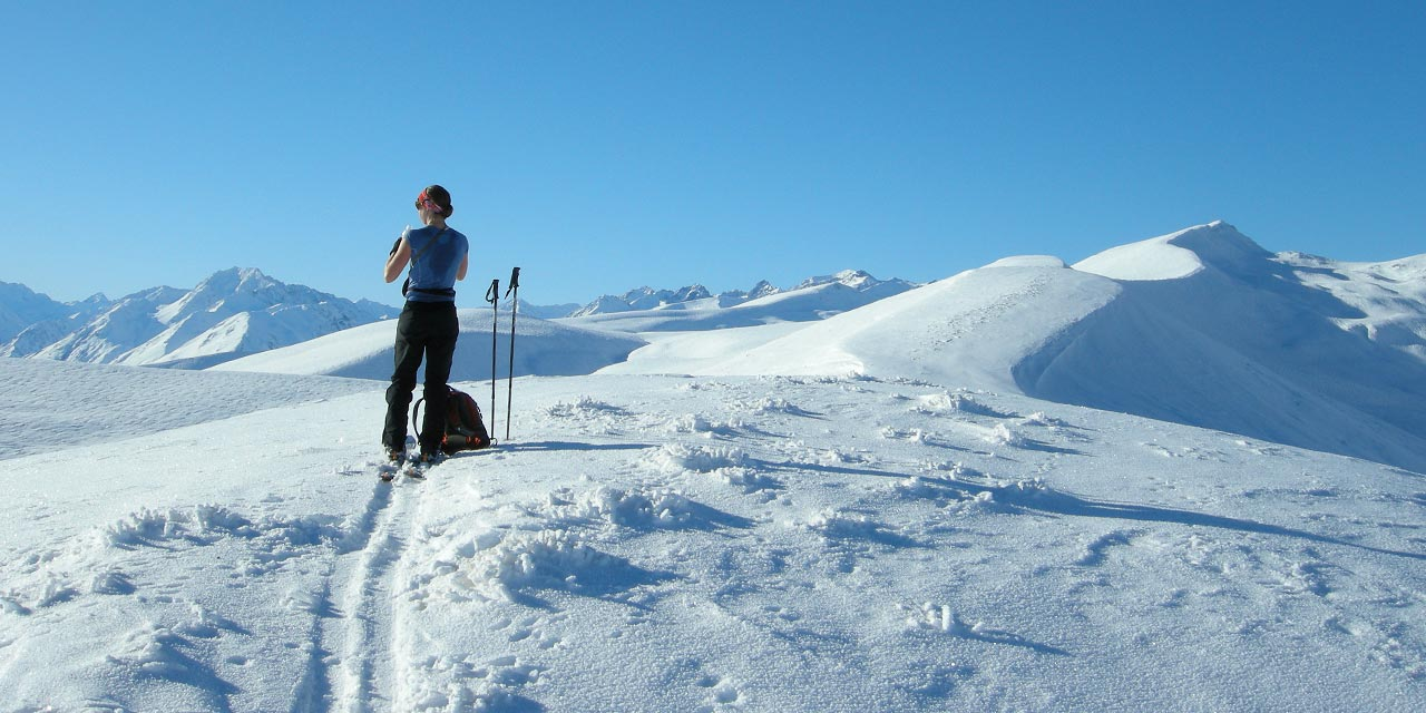 Nordic skiing in the Lake Tekapo High Country