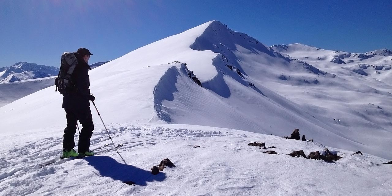 Lots of ski touring terrain to explore in the Two Thumb Range