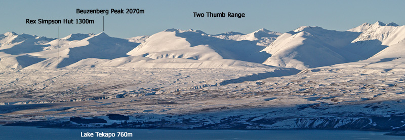 The Two Thumb Range above Lake Tekapo