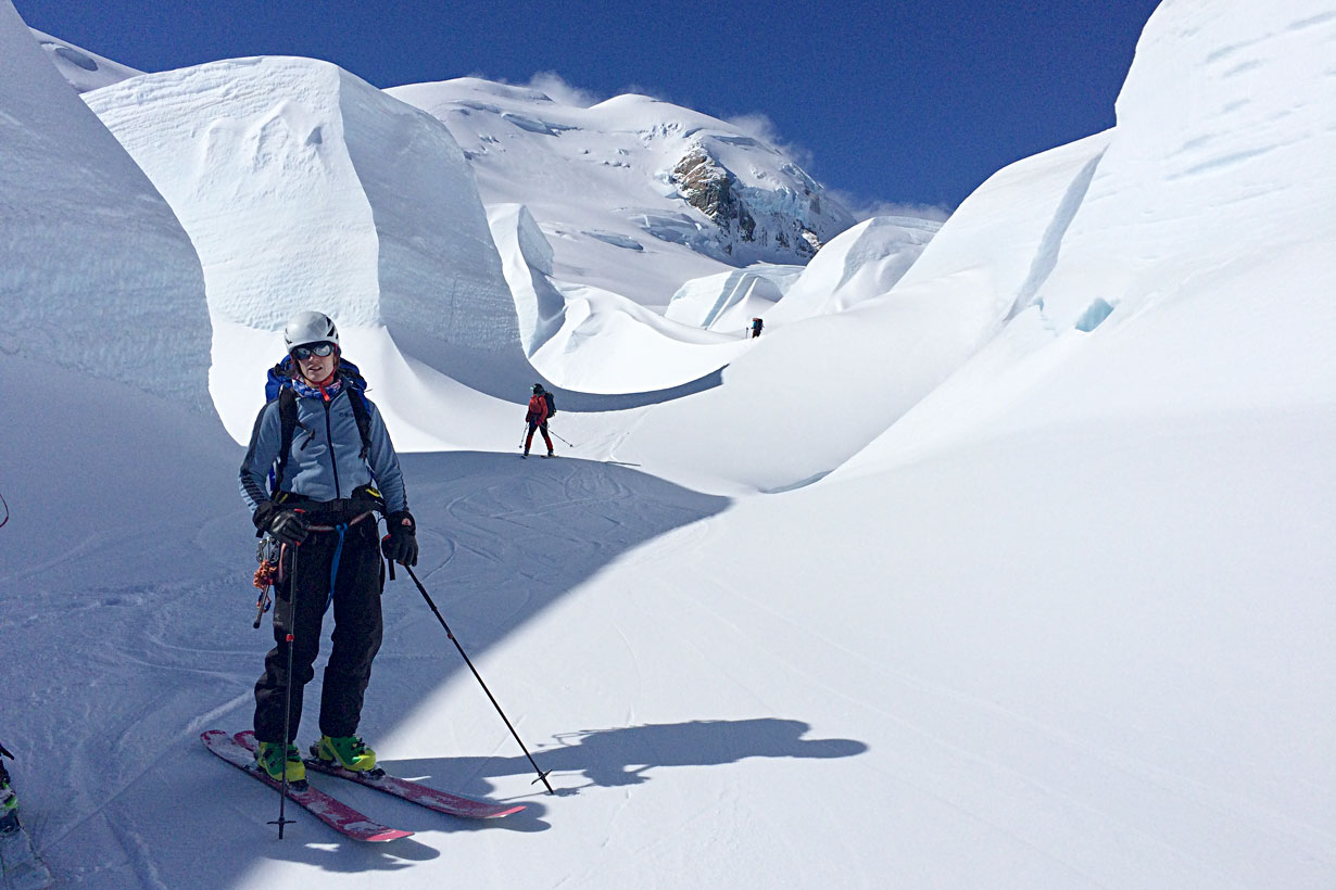 She's on Skis Glacier Ski Touring