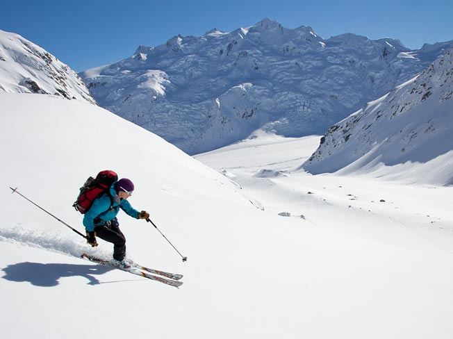 Skiing the Bonney Glacier