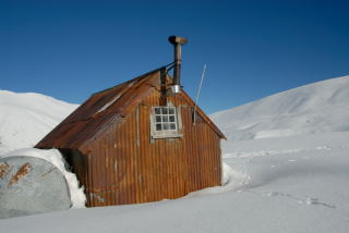 The small musterers' hut in Camp Stream Valley.